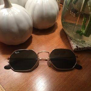 Black Octagon Ray Ban Sunglasses